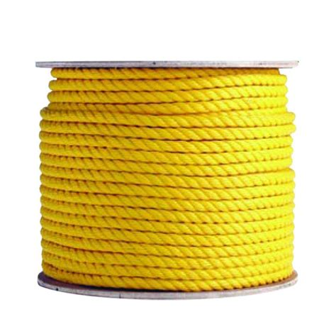 boen 1 4 in x 600 ft polypropylene yellow rope br 2112