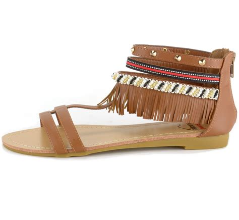 Fringe Sandals alpine swiss womens fringe sandals beaded studded