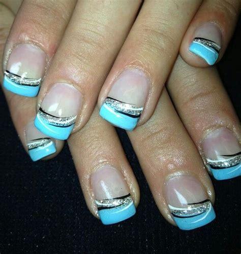 Ultra Cool Blue Gel blue gel nails but with royal blue grad
