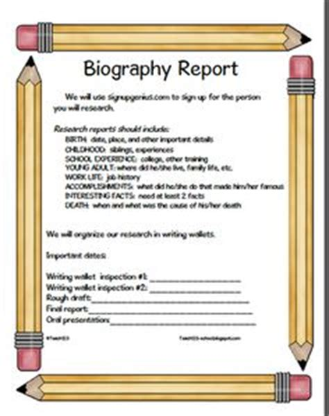biography assignment for middle school 1000 images about book reports on pinterest biography