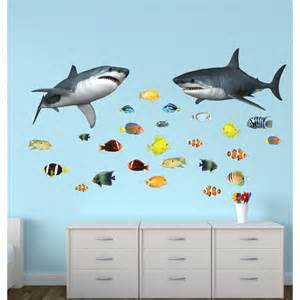 wall stickers with shark wall decor for nursery or