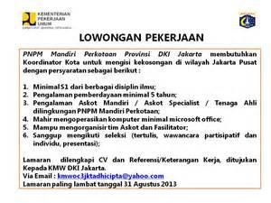 lowongan kerja terbaru april 2013 info loker pekerjaan