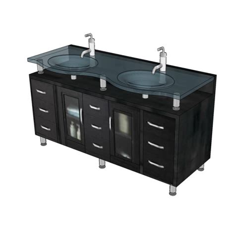 His And Hers Vanity by His And Hers Vanity Unit 3d Dwg Block Cadblocksfree Cad
