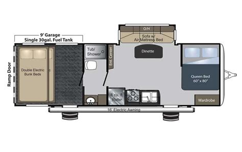 raptor rv floor plans keystone raptor toy hauler chilhowee rv center greater