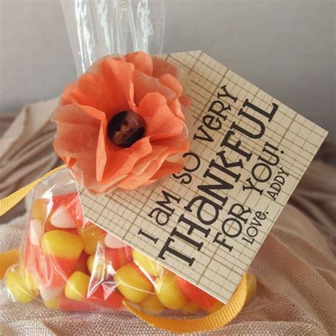 Thanksgiving Table Favors Thanksgiving Favor Table Decoration Corn Personalized Tag Tissue Paper