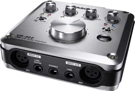 tascam us 322 usb 2 0 audio interface with on board dsp