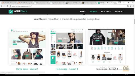 themeforest yourstore themeforest instalar yourstore opencart theme youtube