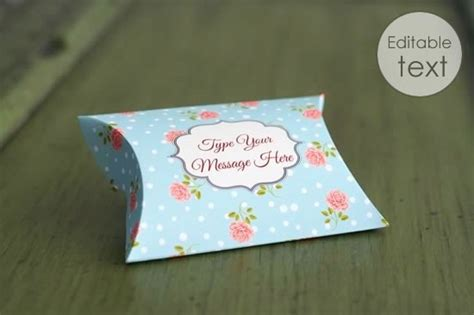gift card pillow box template free printable gift box templates pillow box and others