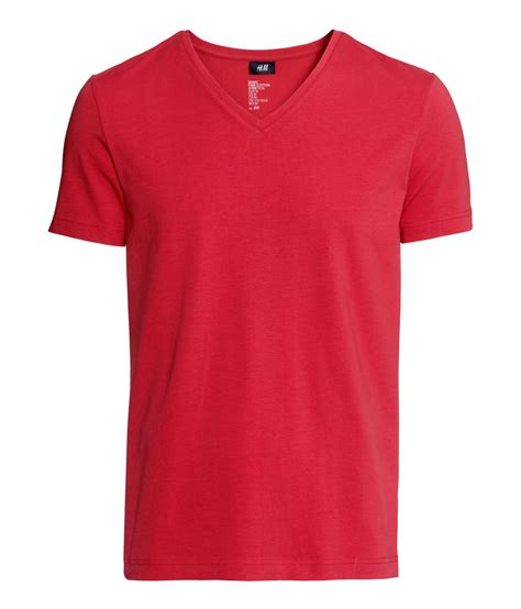 Hnm T Shirt h m stretch t shirt in for lyst