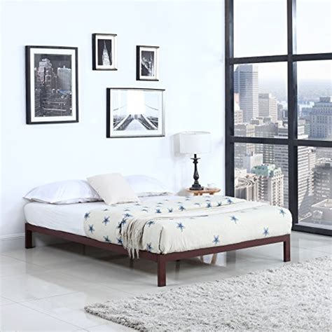 Low Metal Bed Frame Modern 8 Low Metal Platform Bed Frame Mattress Foundation Brown Rings N Rollers