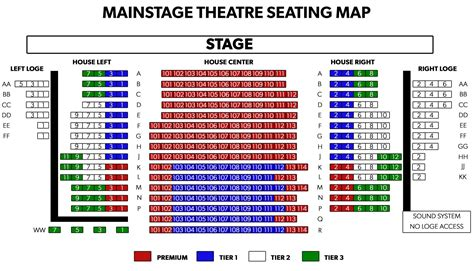 seating maps theatre