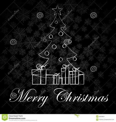 imagenes de navidad en negro y blanco tarjeta de navidad blanco y negro imagen de archivo