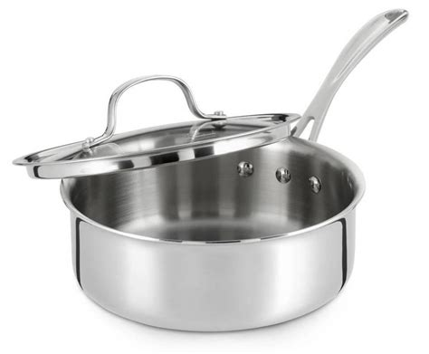 Calphalon Kitchen Essentials 2 Quart Saucepan Calphalon Tri Ply Stainless Steel 2 1 2 Quart