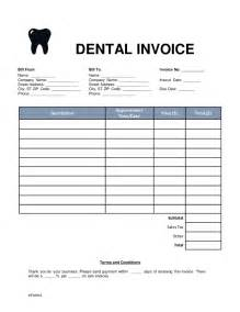free dental invoice template word pdf eforms free