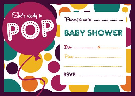 Ready To Pop Baby Shower Invitations Free by Free Ready To Pop Baby Shower Invitation Free