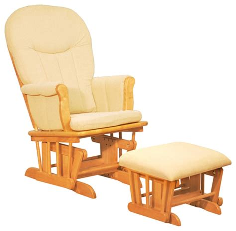 Baby Chair And Ottoman Afg Baby Deluxe Glider Chair With Ottoman In With Beige Cushion Traditional