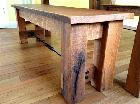 rustic oak dining table and benches reclaimed oak harvest table rustic dining benches philadelphia by cz woodworking