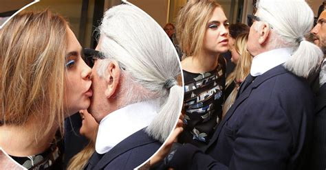 House Designer Online kisses for karl lagerfeld cara delevingne and the iconic