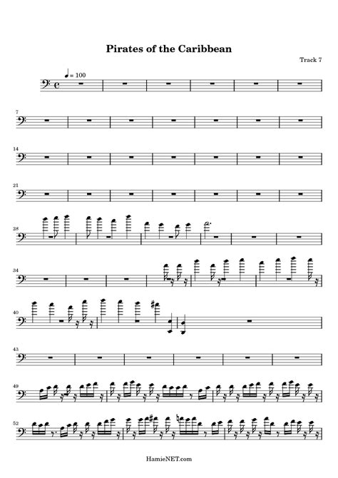 theme song pirates of the caribbean free trumpet sheet music pirates of the caribbean