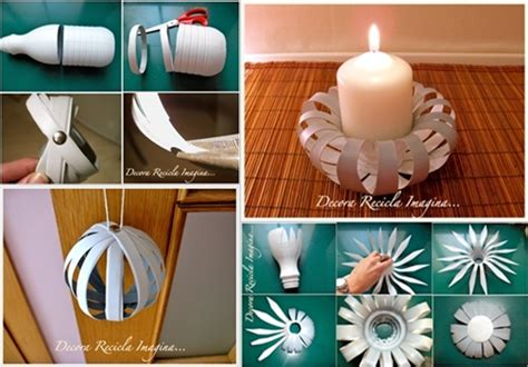 Recycled Home Decor Projects by Diy Candle Holder From Plastic Bottle