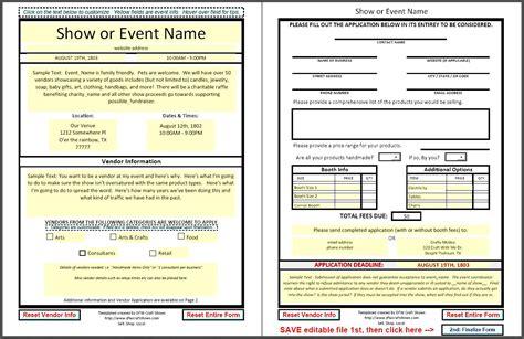 vendor registration form template 11 best photos of event registration form event