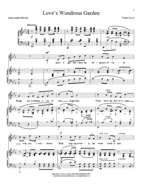 lyrics hawley andros hawley s wondrous garden piano