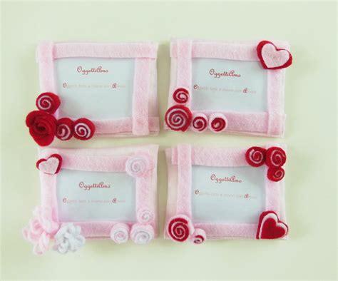 cornici regalo 80 cornici in feltro rosa e rosso bomboniere calamite