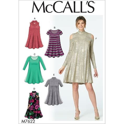 knit sewing patterns misses knit swing dresses with neckline and sleeve