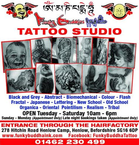 tattoo parlour hitchin funky buddha ink bedford reviews tattoo shop in henlow