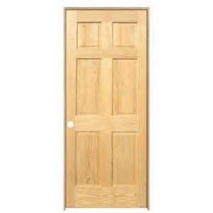 Home Depot Solid Core Interior Door by Main Door Pro Collection 6 Panel Solid Core Pine Single
