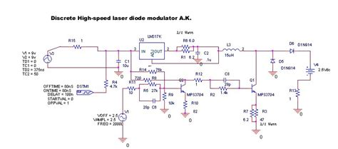 discrete laser diode driver circuit discrete high speed laser modulator schematic