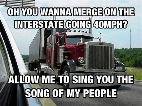 Big Truck Meme - trucking meme about bad merging trucking pinterest