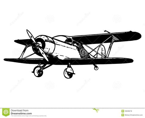 Airplane Wall Sticker vintage biplane aircraft stock vector image of flyer