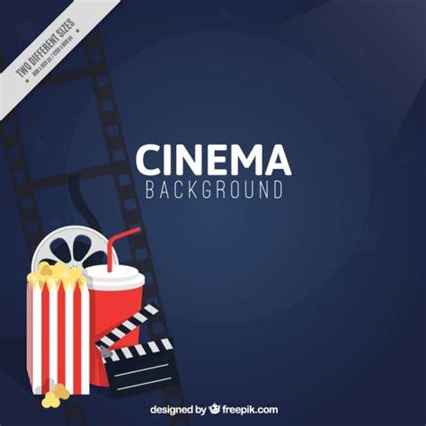 fondo cinema fondo de cine con bebida y palomitas descargar vectores premium