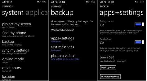 backup your mobile apk how to backup on windows 10 mobile tutorial