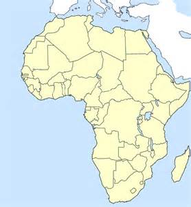 africa map empty blank map of africa geography