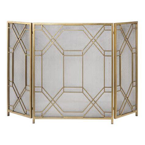 Uttermost Fireplace Screens by Gold Fireplace Screen Uttermost Screens Fireplace