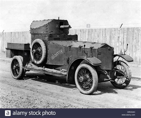 rnas standard rolls royce armoured car ww1 stock photo