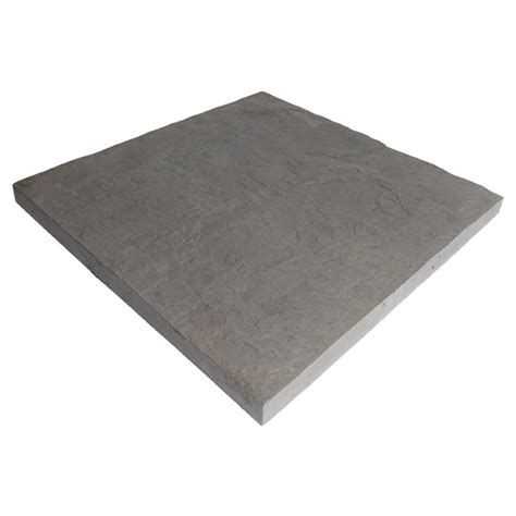 Patio Stones Rona by Slate Style Patio 23 5 Quot X 23 5 Quot Grey Rona