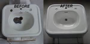 Refinished bathtubs sinks wall tile countertop and tub re nu