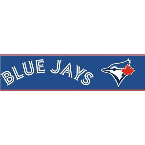 Peel And Stick Wall Covering by Discount Wallcovering Toronto Blue Jays Border Bey198