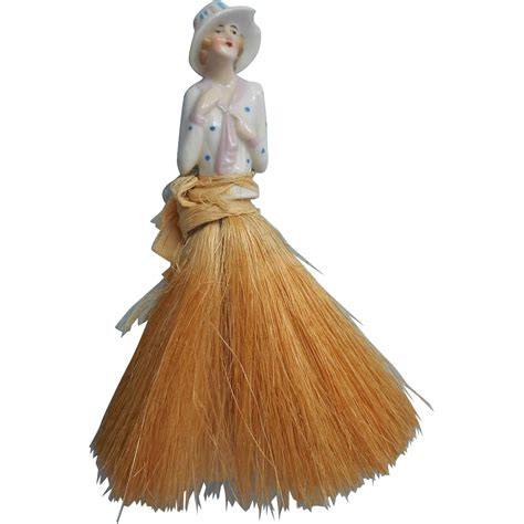 china doll 1920s 1920s hat brush vintage china half doll tlc from