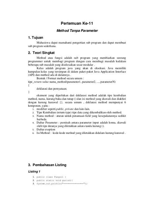 urutan membuat laporan hasil praktikum laporan praktikum algoritma dan pemrograman pertemuan 11