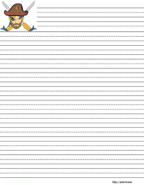 Primary Writing Paper 4 Best Images Of Free Printable Lined Writing Paper Kids