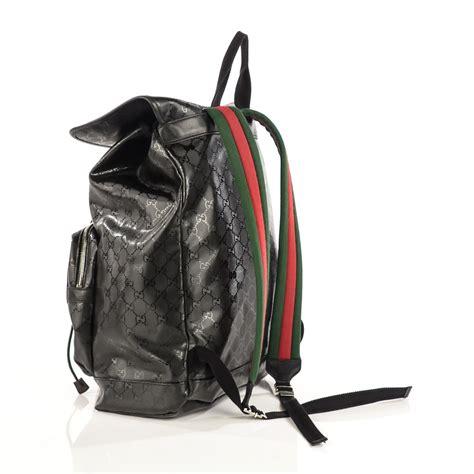 Backpack Guccl Gg Monogram 6317 gucci imprime monogram web 500 by gucci gg backpack black