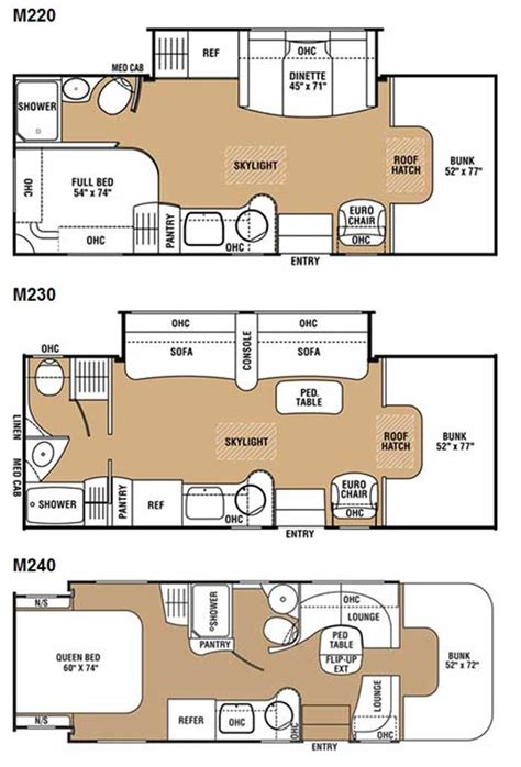 motor home floor plans motorhome floor plans class c meze blog