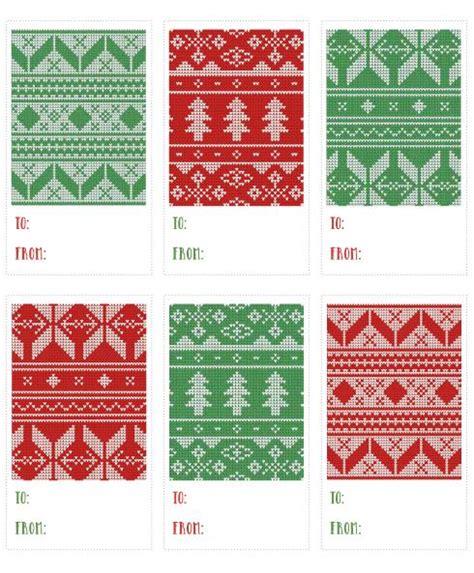 free printable christmas gift tags to colour printable christmas sweater holiday gift tag download free
