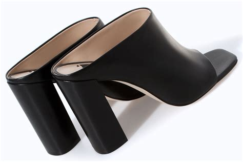 black leather high heel mules the mule s moment high heels daily