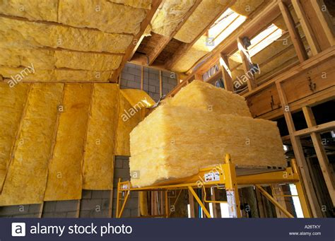 R 38 Ceiling Insulation by R38 Fiberglass Insulation Being Installed Roof In New Loft