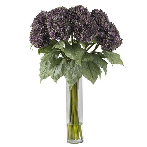 silk flower arrangements new 31 quot large artificial silk hydrangea purple fake flower
